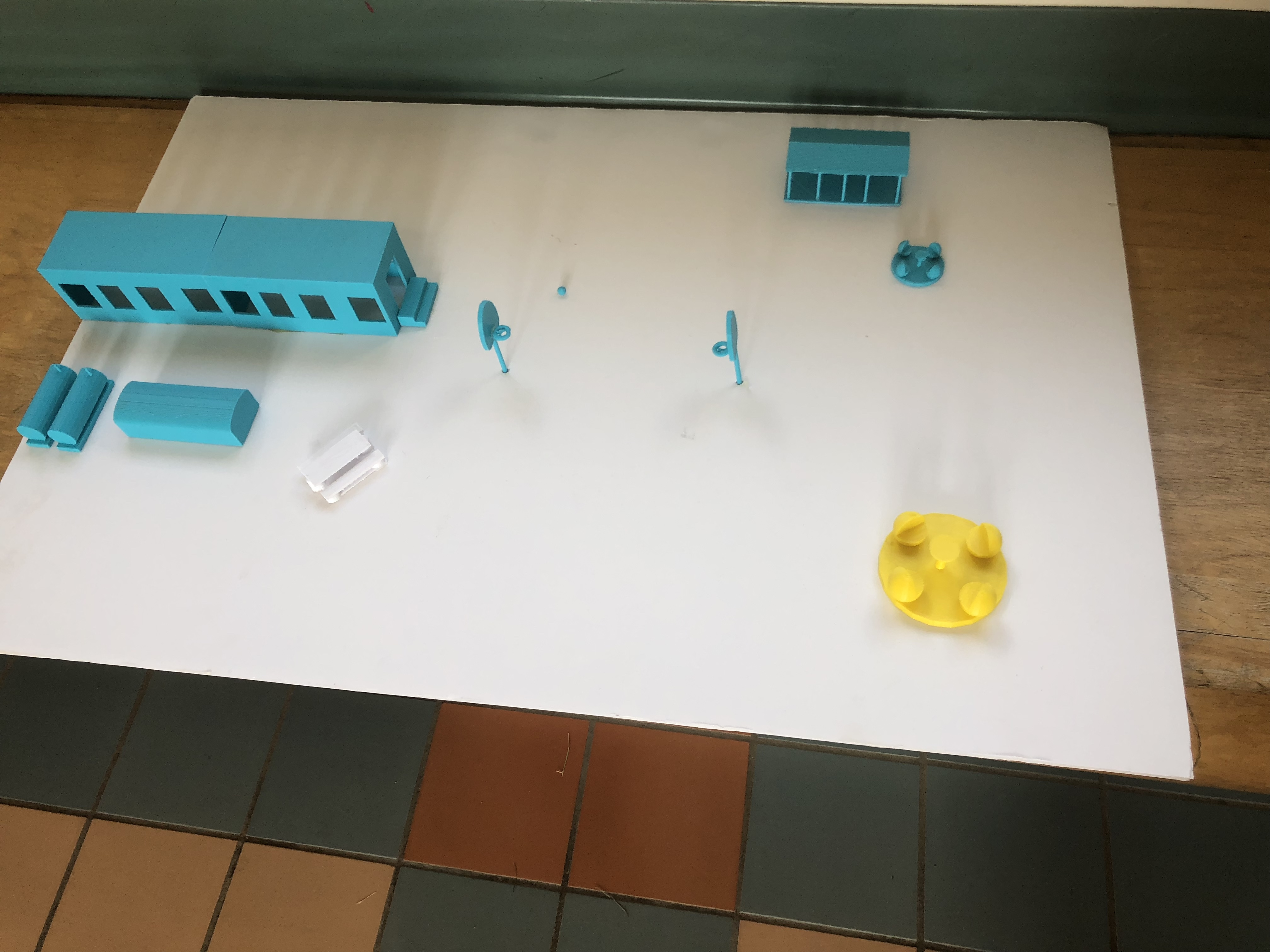 3D printed model of school playground