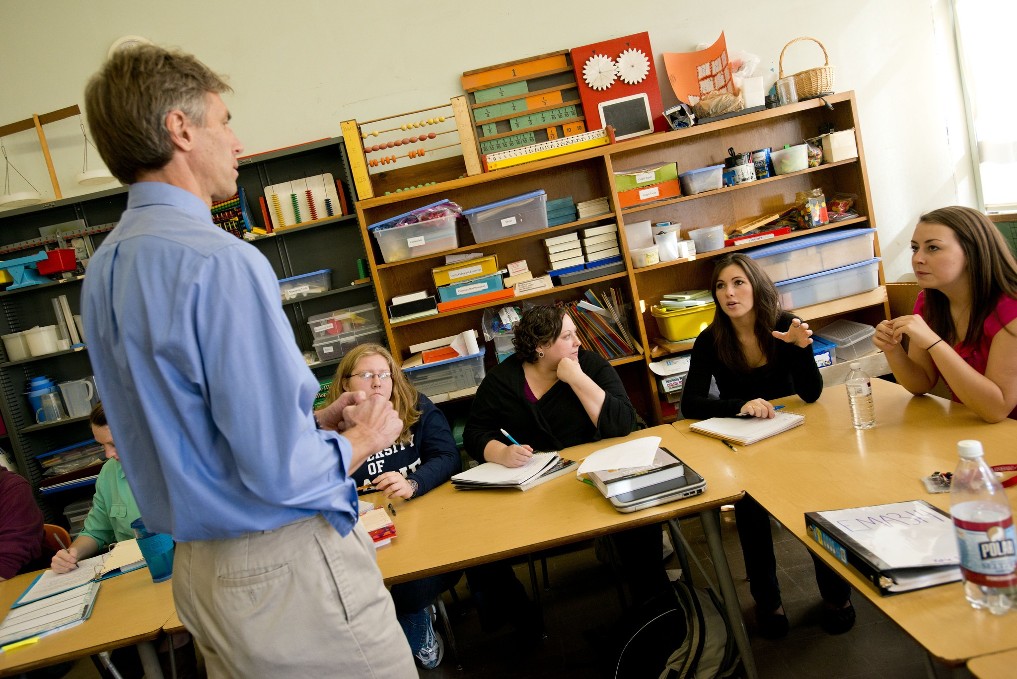 Professor leading a class at UMaine